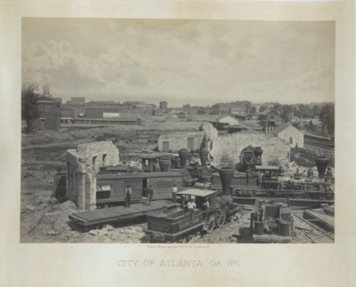 The site contains images of the 61 albumen prints found in early American photographer and member of the Matthew Brady studio, George N. Barnard's 1866 Photographic Views of Sherman's Campaign. Subjects of the photographs include Sherman and his generals, Nashville, Chattanooga Valley, Atlanta, and Savannah. Barnard was the official photographer for the United States Army, Chief Engineer's Office, Division of the Mississippi.